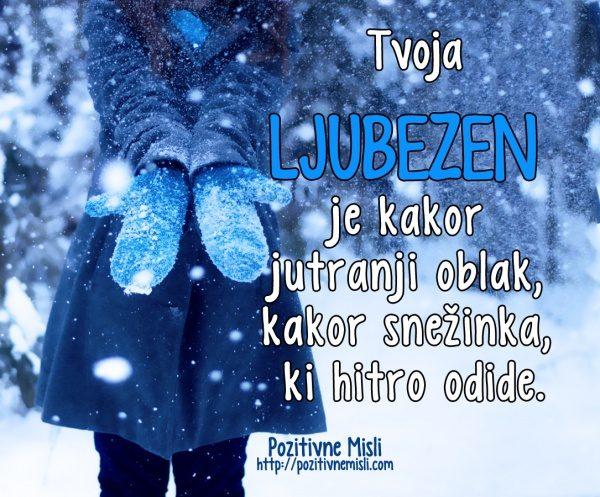 Ljubezen je kot snežinka