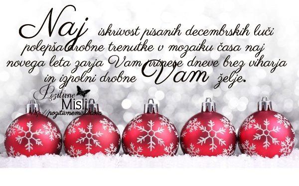 Naj iskrivost pisanih decemberskih luči