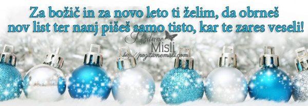 Za božič in za novo leto ti želim